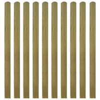 vidaXL 30 pcs Impregnated Fence Slats Wood 140 cm