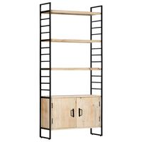 vidaXL 4-Tier Bookcase 80x30x180 cm Solid Mango Wood