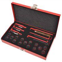 vidaXL 21 Piece Glow Plug Thread Repair Kit M12 x 1.25 mm