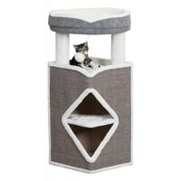 TRIXIE Cat Tower Arma Grey Blue and White