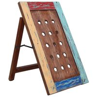 vidaXL Wine Rack for 15 Bottles 47x28x78 cm Solid Reclaimed Wood