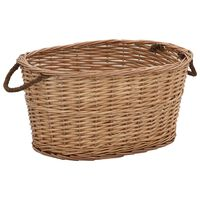 vidaXL Firewood Basket with Carrying Handles 58x42x29 cm Natural Willow