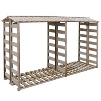 vidaXL Firewood Storage Shed 300x100x176 cm Impregnated Pinewood