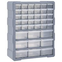 vidaXL Multi-drawer Organiser with 39 Drawers 38x16x47 cm