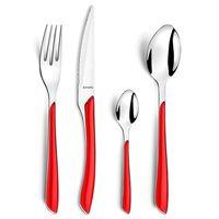 "Amefa 24 Piece Cutlery Set ""Eclat"" Red"