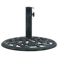 vidaXL Umbrella Base Green 9 kg 40 cm Cast Iron