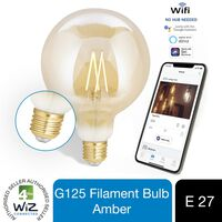 Wiz Led G125 Smart Filament Bulb Amber E27 Tunable White & Dimmable