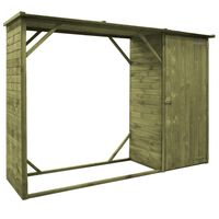 vidaXL Garden Firewood Tool Storage Shed Pinewood 253x80x170 cm