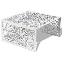 vidaXL Coffee Table Silver Geometric Openwork Design Aluminium