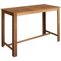 vidaXL Bar Table Solid Acacia Wood 150x70x105 cm