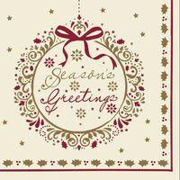 Seasons Greeting Swansoft Christmas Napkins 40cm - 10x50x40cm