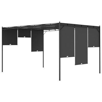 vidaXL Garden Gazebo with Side Curtain 4x3x2.25 m Anthracite