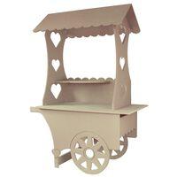 KuKoo Mini Candy Cart MDF Wedding Birthday Party Stall