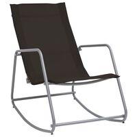 vidaXL Garden Swing Chair Black 95x54x85 cm Textilene