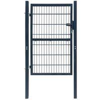 2D Fence Gate (Single) Anthracite Grey 106 x 230 cm