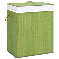 vidaXL Bamboo Laundry Basket Green 100 L