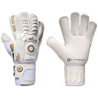 Elite Sport Goalkeeper Gloves Real Size 9 White