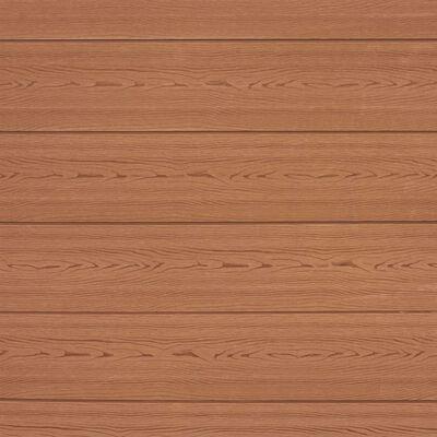 vidaXL WPC Fence Set 2 Square 353x185 Brown