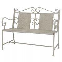 vidaXL Garden Bench 115 cm Steel Grey