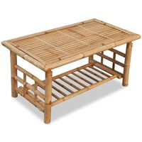 vidaXL Coffee Table Bamboo 90x50x45 cm