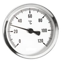 100mm 0-120C Thermo Water Gauge 1/2 Inch Rear Entry Thermometer