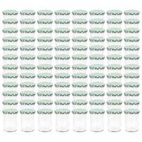 vidaXL Glass Jam Jars with White and Green Lid 96 pcs 400 ml