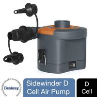 Bestway Sidewider D Cell Battery Powered 6v Electric Air Pump 430l/min