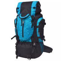 vidaXL Hiking Backpack XXL 75 L Black and Blue