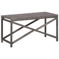 vidaXL Garden Bench 80 cm Poly Rattan Grey