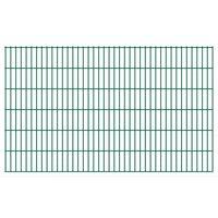 vidaXL 2D Garden Fence Panels 2.008x1.23 m 42 m (Total Length) Green