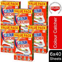 6 Pack Dylon Colour Catcher Complete Action Laundry Sheets, 40 Sheets