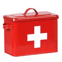 LABEL51 First Aid Box 30x14x21 cm Red