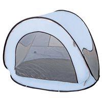 DERYAN Pop-up Beach Tent with Mosquito Net 120x90x80 cm Sky Blue