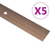vidaXL Floor Profiles 5 pcs Aluminium 100 cm Brown