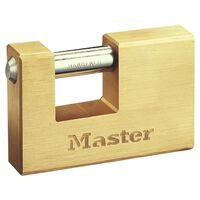 Master Lock Armoured Padlock Solid Brass 85 mm 608EURD