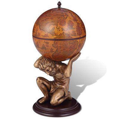 Wow your quests with your sense of style by serving them wine and spirits from this highly decorative globe bar!