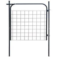vidaXL Garden Fence Gate 100x100 cm Anthracite