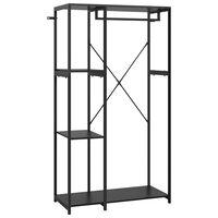 vidaXL Wardrobe Black 90x40x167 cm Metal and Chipboard