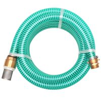 vidaXL Suction Hose with Brass Connectors 7 m 25 mm Green
