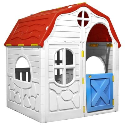 Give your kids a safe place to play and explore with our portable folding playhouse. Your little ones can enjoy imaginative role-playing. This playhouse is amazingly quick to assemble and disassemble in just a few minutes.