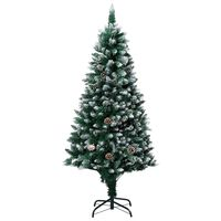vidaXL Artificial Christmas Tree with Pine Cones and White Snow 150 cm