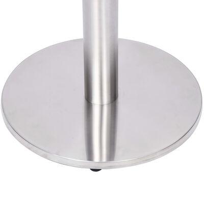 vidaXL Bistro Table Leg Silver Ø45x107 cm Stainless Steel