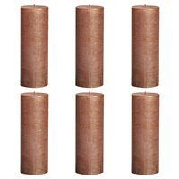 Bolsius Rustic Pillar Candles 6 pcs 190x68 cm Copper