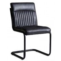Dark Grey Modern Dining Chairs  - Set of 2 Grey 88x60x44cm (HxDxW)