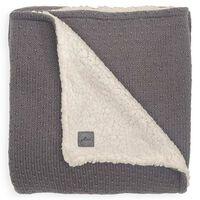 Jollein Blanket Bliss Knit 75x100 cm Teddy Storm Grey