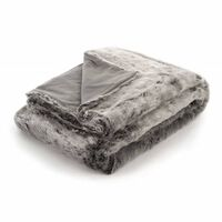 Icon Luxury Faux Fur Throw Blanket, Furry Bedspreads