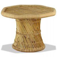 vidaXL Coffee Table Bamboo Octagon 60x60x45 cm