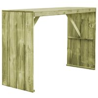 vidaXL Bar Table 170x60x110 cm Impregnated Pinewood