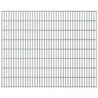 vidaXL 2D Garden Fence Panels 2.008x1.63 m  10 m (Total Length) Grey