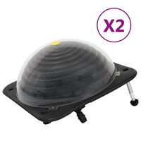 vidaXL Solar Pool Heaters 2 pcs 75x75x36 cm HDPE Aluminium